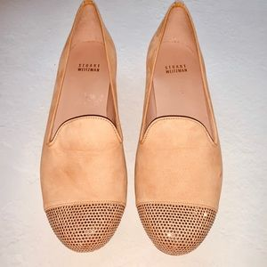 BRAND NEW Cream Embellished Toe Flat